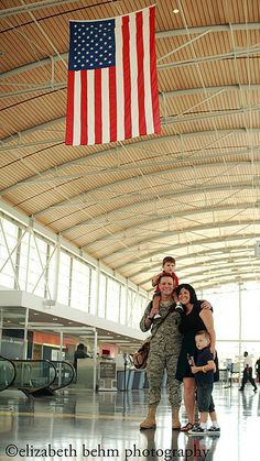 "Homecoming. As another pinner has said ""if you see this moment in the airport - say thank you 'out loud' ... it will work long and good in the hearts of his sacrificing wife and family. Every child wants to be proud of their daddy or mommy."""