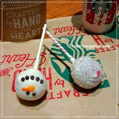 STARBUCKS Cake Pops Peppermint Brownie and Snowman $1.75 | #Starbucks #CakePops #Peppermint #Brownie #Snowman #スターバックス #スタバ