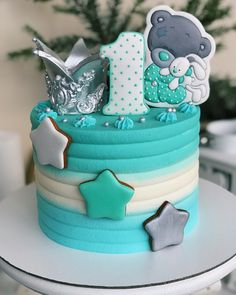 Baby Boy Cakes, Cakes For Boys, Girl Cakes, Birthday Cake Girls, Birthday Party Themes, Drop Cake, Isomalt, Royal Icing, Cake Designs