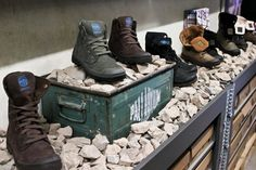Bring natural materials into retail display.