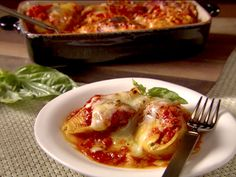 Turkey and Artichoke Stuffed Shells with Arrabbiata Sauce from CookingChannelTV.com