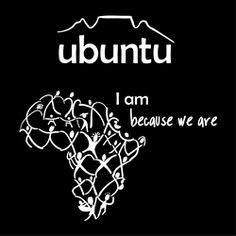 """I got Ubuntu as a tattoo. Ubuntu is a philosophy about human interconnectedness. It roughly means """"I am because you are""""  Archbishop Desmond Tutu defines it as:  A person with Ubuntu is open and available to others, affirming of others, does not feel threatened that others are able and good, for he or she has a proper self-assurance that comes from knowing that he or she belongs in a greater whole and is diminished when others are humiliated or diminished, when others are tortured or oppressed...."""