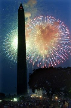 Fourth of July fireworks in DC.