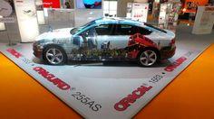 GraphicDisplayWorld (GDWtweets) tweets: London Audi A5 @FESPA on the Orafol booth. #fespa2013