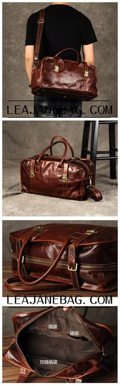 Genuine Leather Briefcase, Leather Travel Bag GZ047