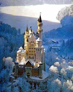 Breathtaking view of Neuschwanstein Castle, Germany.