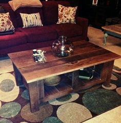 Rustic coffee table by Ernest Wardner Designs