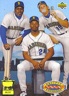 Greatest #Outfield ever in - Kevin Mitchel, Ken Griffey, and Jay Buhner... #Mariners haha #Jerseys