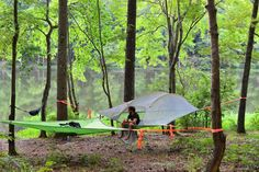 Camp in comfort no matter what the terrain. Awesome treehouse tent. Experience the wild. Float above the wet, cold, uneven, rocky, or critter infested ground.