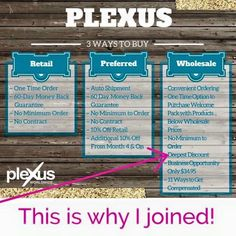 Opportunity of a Lifetime - don't you want to see what PLEXUS can do for you?