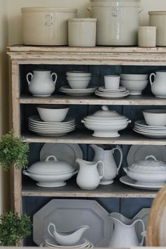 Frog Goes to Market: Antique Ironstone Collection