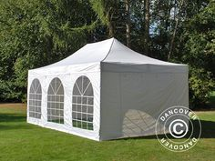 POP UP GAZEBO FLEXTENTS PRO VINTAGE STYLE 4X6 M WHITE INCL 8 SIDEWALLS Pop Up Gazebo FleXtents Is A High Professional Quality With Easy