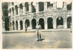 1945 Italy Rome Colosseum on leave
