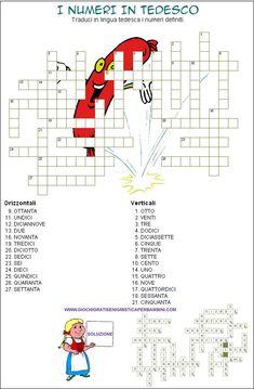cruciverba per ragazzi i numeri in tedesco crossword