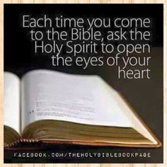 EACH TIME YOU COME TO THE BIBLE