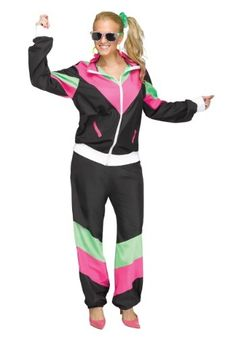 #halloween #halloweencostumes 80's Track Suit Costume for Women: We remember the 1980s. It was a magical time. You could listen… #costumes