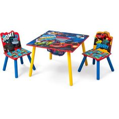 Blaze and the Monster Machines Table & Chair Set with Storage by Delta Children - Walmart.com