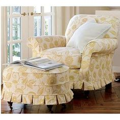 Pottery Barn Savannah chair ($999.00) and ottoman ($549.00) in a choice of upholstery cover plus tax/shipping etc.