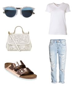 """Rose Gold Birkenstock"" by jildorshoes on Polyvore featuring Birkenstock, H&M, T By Alexander Wang, Christian Dior, Dolce&Gabbana, Summer, Spring, birkenstock and rosegold"