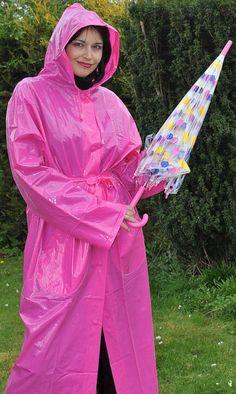 Pink Raincoat, Plastic Raincoat, Plastic Pants, Imper Pvc, Plastic Mac, Rain Suit, Pvc Vinyl, Pink Pants, Plus Size Lingerie