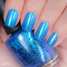 Beautiful summer blue polish named 'I Sea You Wear OPI' - OPI Bright Nail Lacquer Collection Nail Polish Art, Nail Polish Colors, Nail Art, Colorful Nail Designs, Cute Nail Designs, Fancy Nails, Trendy Nails, Essie, Pretty Nail Colors