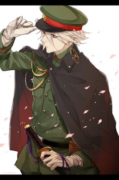 No larger size available karna Military Suit, Anime Military, Character Concept, Character Art, Character Design, Hot Anime Boy, I Love Anime, Fate Characters, Susanoo