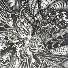 deviantART: More Like Rhinoceros Zentangle by KaterinaBelikova