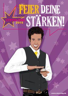 Hotelfachmann /-frau - Dehoga Berlin - Stern-Tag 2015 - Feier Deine Stärken! - violett - www.stern-tag.de