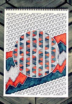 Northern Irish / Graphic Design Student / I Like Drawing / I Like Taking Photographs / All Original Content / Zantangle Art, Zen Art, Bullet Art, Doodle Art Journals, Zentangle Patterns, Zentangles, Artist Sketchbook, Sketchbook Inspiration, Art Drawings Sketches