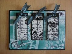 card *Spring in turquoise* made with rubber stamps and mixed media by http://lillibelles.blogspot.de/