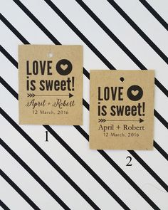 Wedding Tags Love is Sweet Tags Wedding by DiyCraftyScraps on Etsy