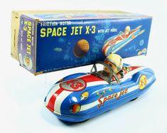 Vintage Tin Litho KO Japan Harbour Patrol Boat Friction Toy Original Box Works
