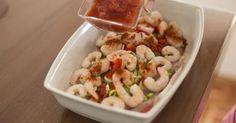 Pescado con salsa de camarones 4