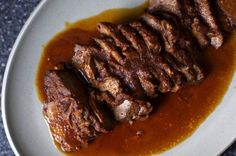 Slow cooker, 2 day recipe -- slow cook, refrig, warm up. So this year? It's been fulla brisket. It started at New Years, with the Southwestern Pulled Brisket that made me a brisket person. And also a slow-cooker person. But mostly a brisket in the …