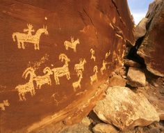 Wolfe Cabin Petroglyphs, Arches National Park, Photo Credit: Moab Area Travel Council