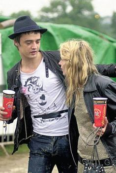 Kate Moss and Pete Doherty together at a festival during their on-again, of - The Independent