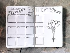 birthday spread