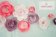 DIY Paper Flowers (from The Wedding Chicks) - with permalink. These are pretty colors. @andesiga