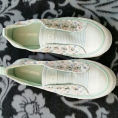 Converse slip on sneakers Converse slip on sneakers in a size 8 worn once or twice. Converse Shoes Sneakers