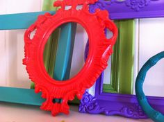 Bright Vintage Frame Open Empty Gallery Wall Funky by KiwiKouture, $34.00