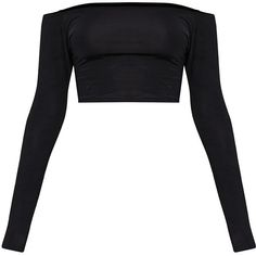 Designer Clothes, Shoes & Bags for Women Going Out Crop Tops, Going Out Shirts, Party Crop Tops, Cute Crop Tops, Cropped Tops, Crop Top Outfits, Edgy Outfits, Fashion Outfits, Black Long Sleeve Shirt