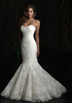 Luxury Empire Waist Mermaid Lace Sweetheart Floor Length Wedding Dress - 1300103546B - US$249.99 - BellasDress