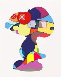 """""""KAWS"""" is a graffiti artist, illustrator, painter, sculptor, product designer, and toymaker. """"His cartoonish style—including his best-known characters with X-ed out eyes—has its roots in his early career as a street artist, when he began replacing advertisements with his own, masterful acrylic paintings in the early 1990s. Since, KAWS has embraced the commercialist spirit of Claes Oldenburg and Takashi Murakami, designing everything from Kanye West album covers to Nike sneakers. Avoiding…"""