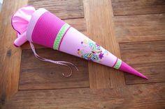 """Schultüten - Schultüte """"Schmetterling"""" Stoff in ro... - ein Designerstück von Geschenke-Wenke bei DaWanda"""