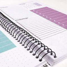 Imprime todo tipo de Agendas Personalizadas con Fotos Brochure Design, Layout Design, Notebook, Bullet Journal, Mary, Business, School, Beauty
