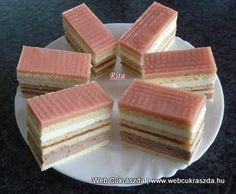 Holland szelet Hungarian Desserts, Hungarian Cake, Hungarian Recipes, Hungarian Food, Dutch Recipes, Sweet Recipes, Cookie Recipes, Dessert Recipes, Cake Bars