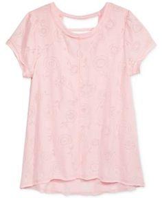 Kandy Kiss Camouflage T-Shirt, Big Girls (7-16) - Pink XL