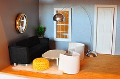 How to Make Modern Dollhouse Furniture Tutorial