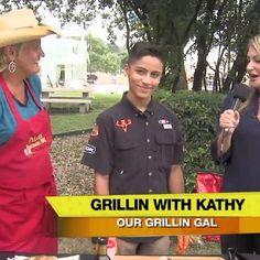 Grillin With Kathy   WOAI Steak with Texas Angel Oil #texasangeloil www.texasangeloil.com Oil News, Steak, Chef Jackets, Angel, Steaks, Angels