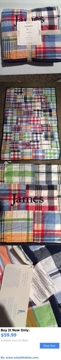 Quilts And Coverlets: Pottery Barn Kids Madras Nursery Crib Quilt Toddler Quilt Nwt James BUY IT NOW ONLY: $59.99 #ustylefashionQuiltsAndCoverlets OR #ustylefashion